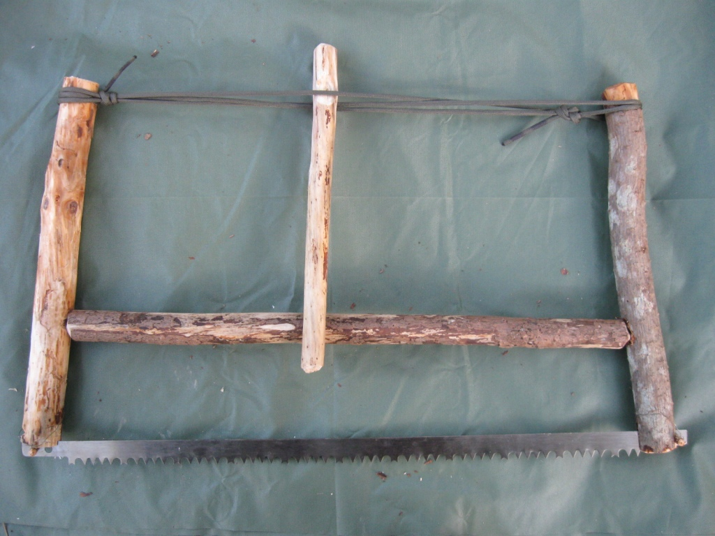Bushcraft bow saw tutorial step ready to be tensioned